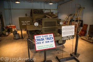 Crash Truck from Dow AAF on display at the Maine Air Museum.