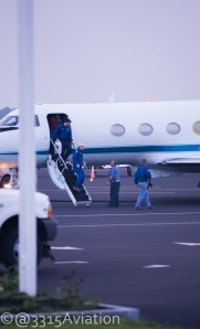 Chris Cassidy arriving in Bangor after a trip to the International Space Station.