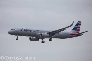 New American A321 on final to Bangor.