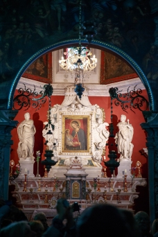 Altar in Our Lady of the Rocks
