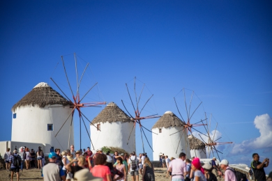 The windmills of Mykonos.