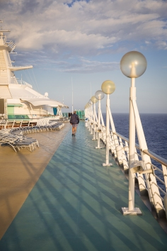 Walking track around the top deck.