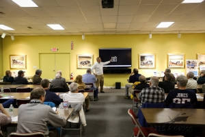 Patrick McGowan of PK Floats presents at the 2017 Maine Aviation Forum